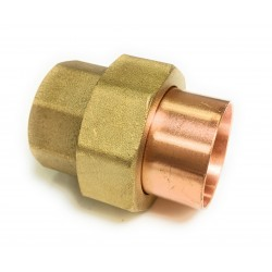 1/2  X 1/2 (5/8 OD X 5/8 OD) Copper Union - Solder Ends