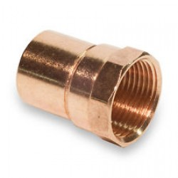 "1/8"" X 1/8"" NPT (1/4""OD X 1/8""NPT)Copper Female Adapter (Copper  X NPT)"