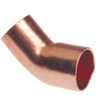 Metric Copper 45 Degree Street Elbow ( Fitting x Tubing/Pipe OD)
