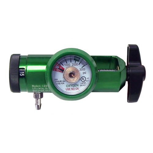 0-15 LPM Flow Rate Oxygen Regulator, CGA 870 Oxygen Regulator with barb outlet