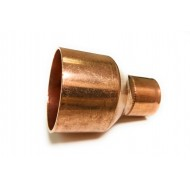 1-1/2  X 1-1/4 (1-5/8 OD X 1-3/8 OD) Copper Coupling Reducer with Stop (Copper  X Copper)