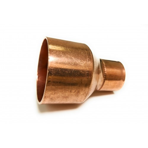 1/4  X 1/8 (3/8 OD X 1/4 OD) Copper Coupling Reducer with Stop (Copper  X Copper)