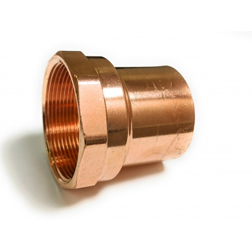 3/4  Fitting  X 3/4  NPT Copper Female Street Adapter (Fitting X NPT)