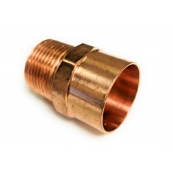 3/8  X 3/8  NPT (1/2 OD X 3/8 NPT)Copper Male Adapter (Copper  X NPT)