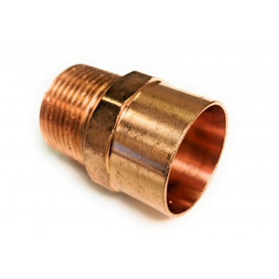1-1/4  X 1-1/2  NPT (1-3/8 OD X 1-1/2 NPT)Copper Male Adapter (Copper  X NPT)