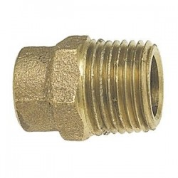 10mm X 3/8 MIP Metric Copper Male Adapters ( Pipe/Tubing OD X B.S.P ) CAST FITTING