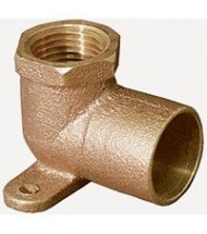 Cast Bronze 90 Deg. Drop Ear Elbow - Copper to Female NPT