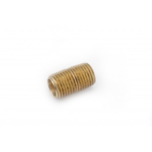 1/2 MIP X Brass Threaded Close Pipe Nipple