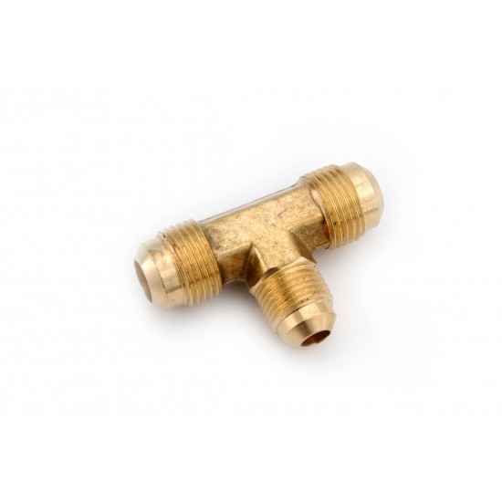 1/2 OD X 1/2 OD X 5/8 OD Brass Flare Tees with Flare Ends