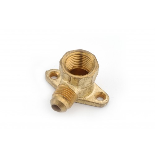 3/8 OD X 1/2 FIP Brass Flare X Female IP Drop Ear Elbow