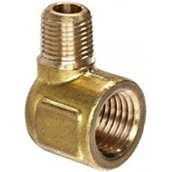 5/8 OD X 1/2 FIP Brass Flare X Female IP Elbow