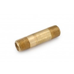 1/4 MIP X 2-1/2  Brass Threaded Long Pipe Nipple