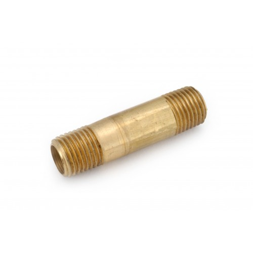3/8 MIP X 6  Brass Threaded Long Pipe Nipple