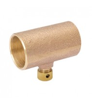 Cast Bronze Coupling with Drain - Copper to Copper