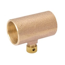 1/2  Cast Bronze Coupling with Drain - Copper to Copper