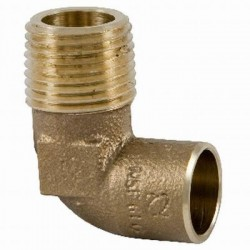 1/2  X 3/4  Cast Bronze 90 Degree Elbows - Copper to Male NPT