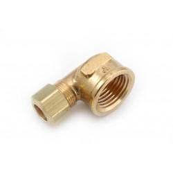 1/4 OD X 1/4 FPT   Brass Compression X Female Pipe Thread Elbow