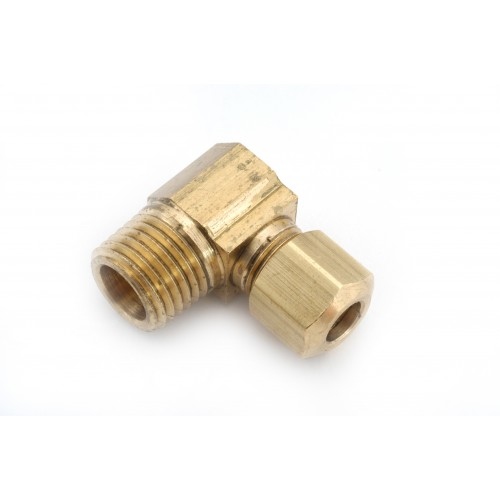 1/8 OD X 1/8 MPT   Brass Compression X Male Pipe Thread Elbow