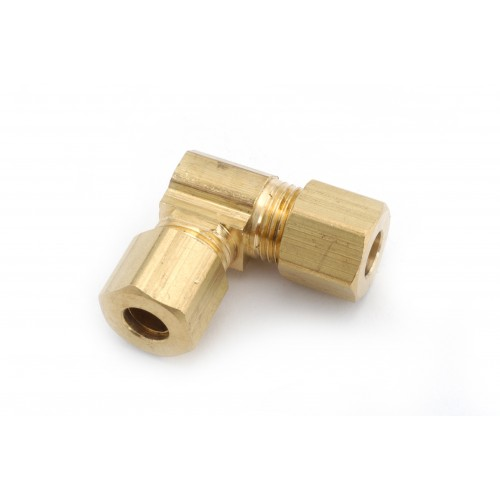 4mm OD Metric Brass Compression Elbow