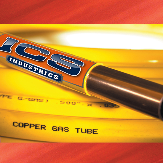 "3/8"" OD X 50' Yellow Polyethylene Coated Copper Tubing"
