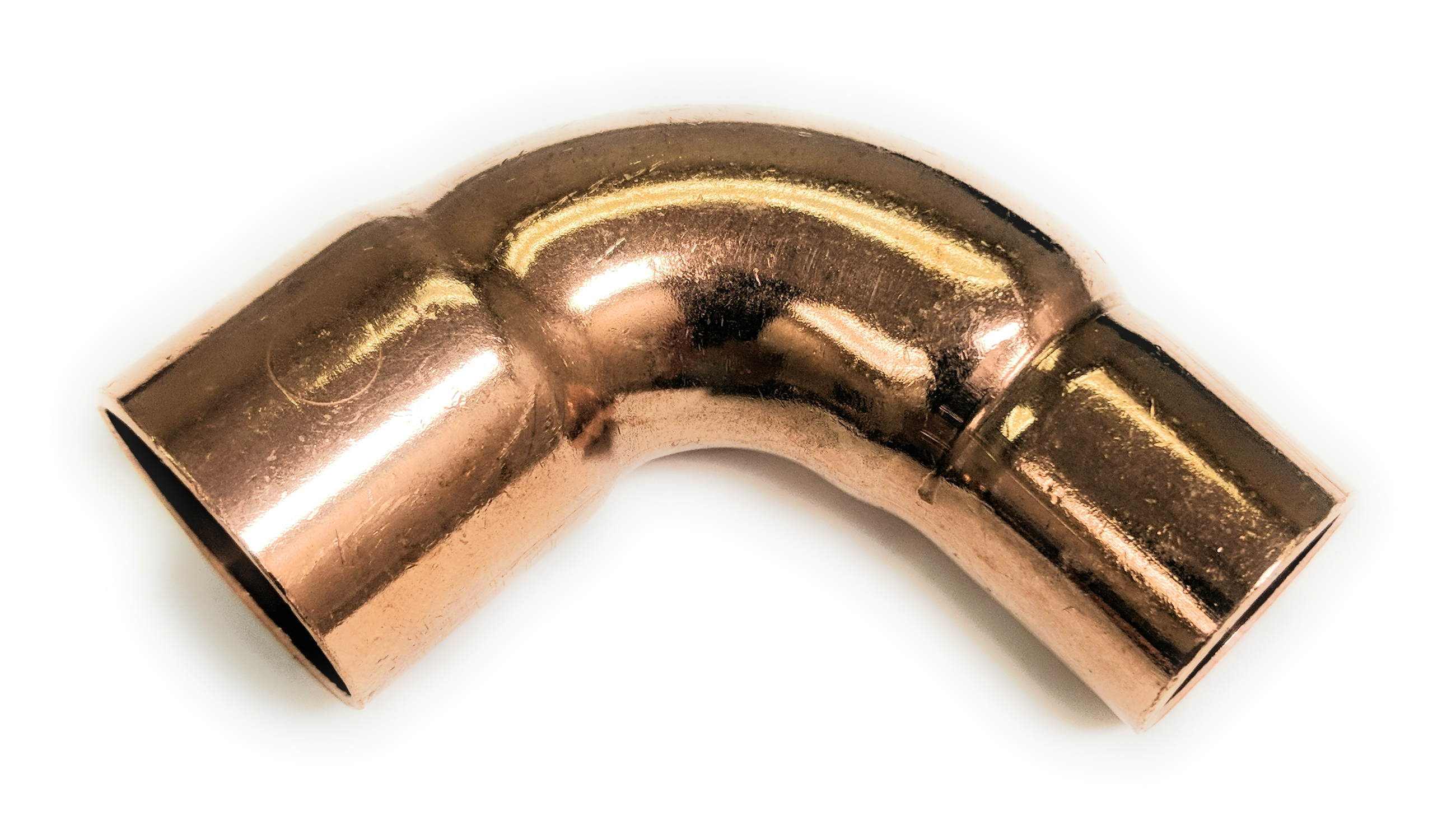 """3//4/"""" Cast Lead Free Brass 90 Degree Elbow with drain"""
