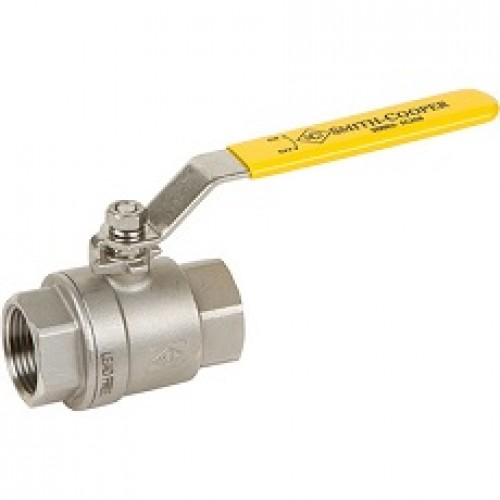 1/2  304 Stainless Steel Two-Piece Ball Valve IPS - Lead Free