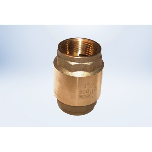 3/4  In-Line Spring Check Valve - FIP Ends - Lead Free