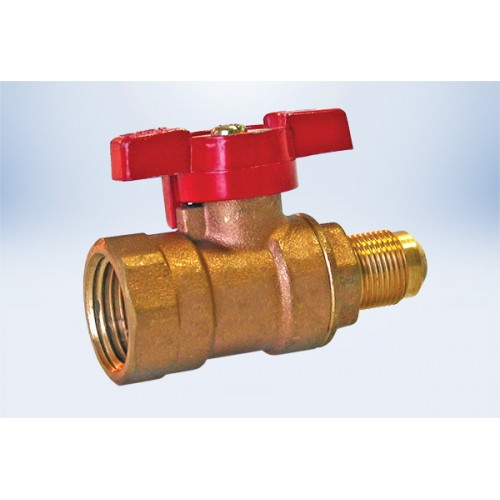 3/8  FL 5/8 -18 Thread X 1/2  FIP Gas Ball Valve